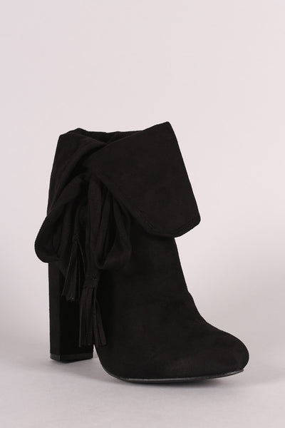 Wild Diva Lounge Fold Over Slouchy Booties