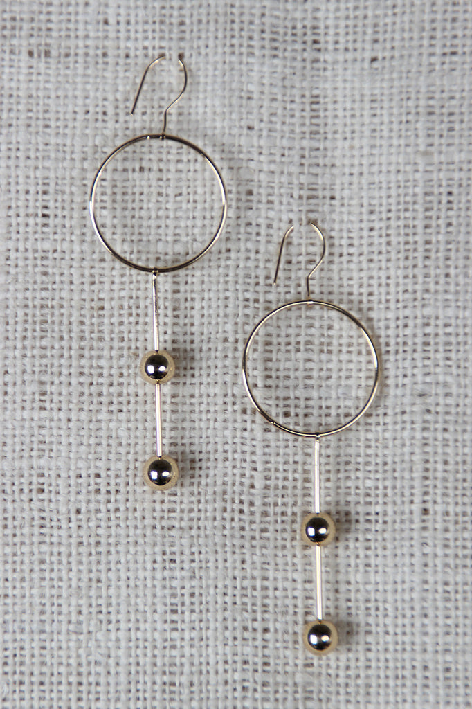 Circles And Spheres Drop Earrings