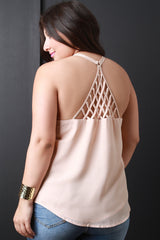 Caged Triangle Back Sleeveless Top