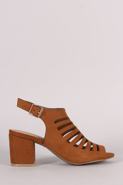 Bamboo Caged Chunky Kitten Heel - JDI Threads