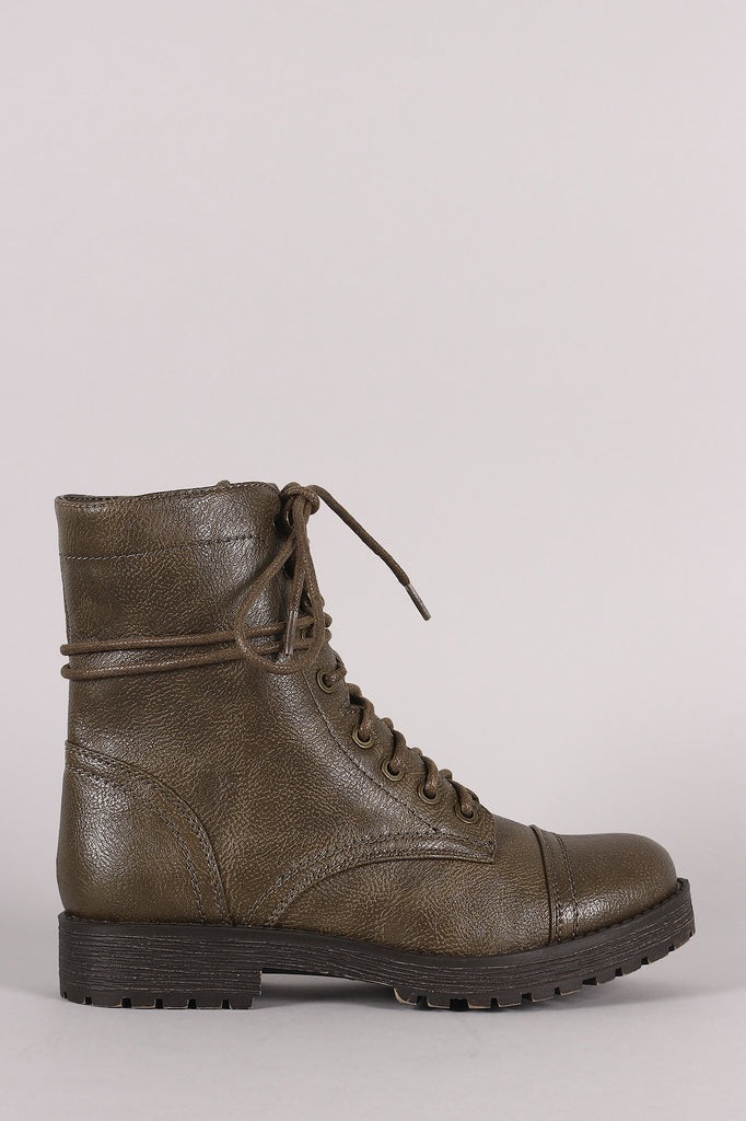 Bamboo Combat Lug Ankle Boots - JDI Threads