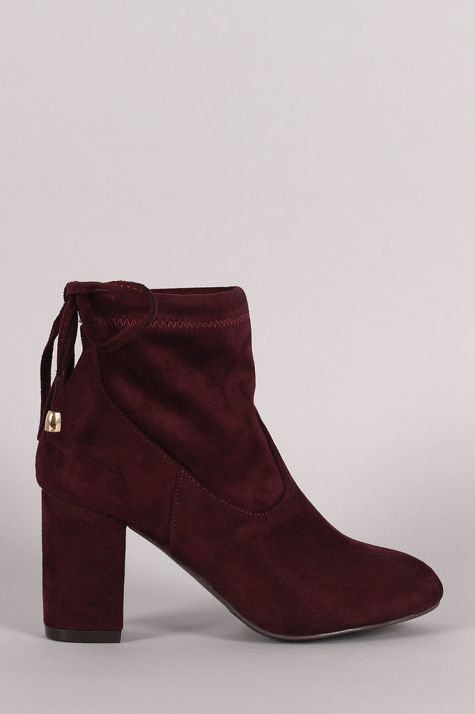 Slouchy Chunky Heel Ankle Boots