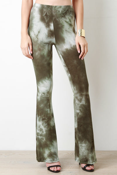 Cloudy Tie Dye Bell Bottom Pants
