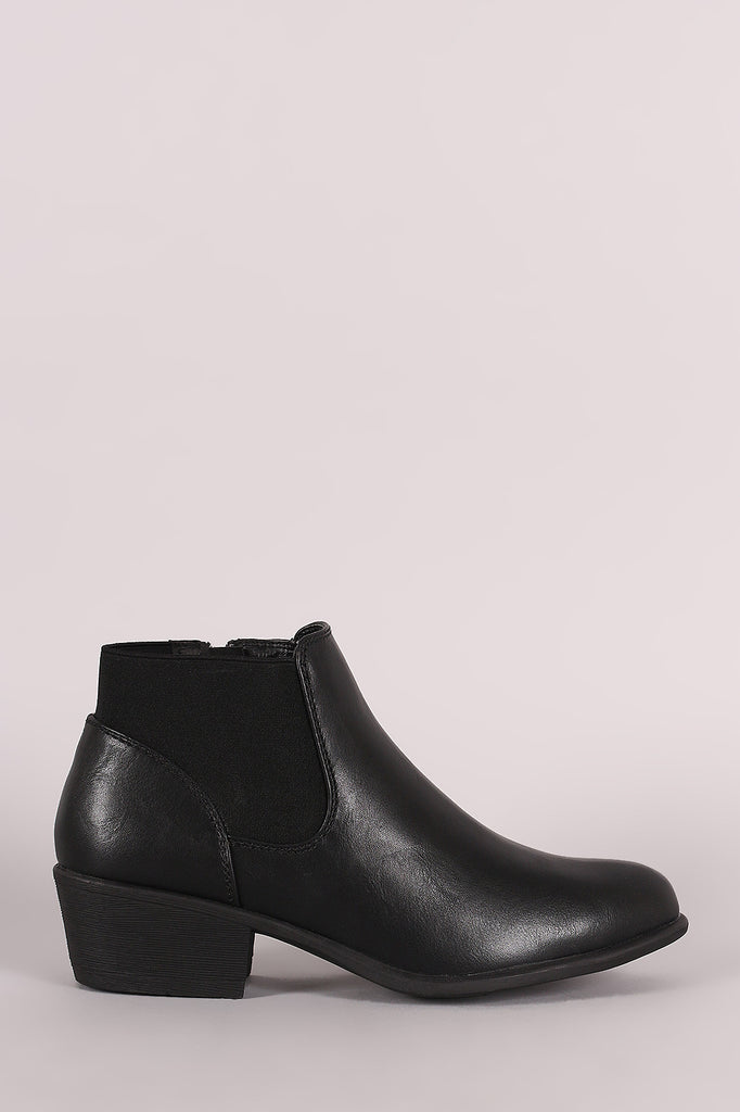 Bamboo Wrap Around Elastic Gore Ankle Booties