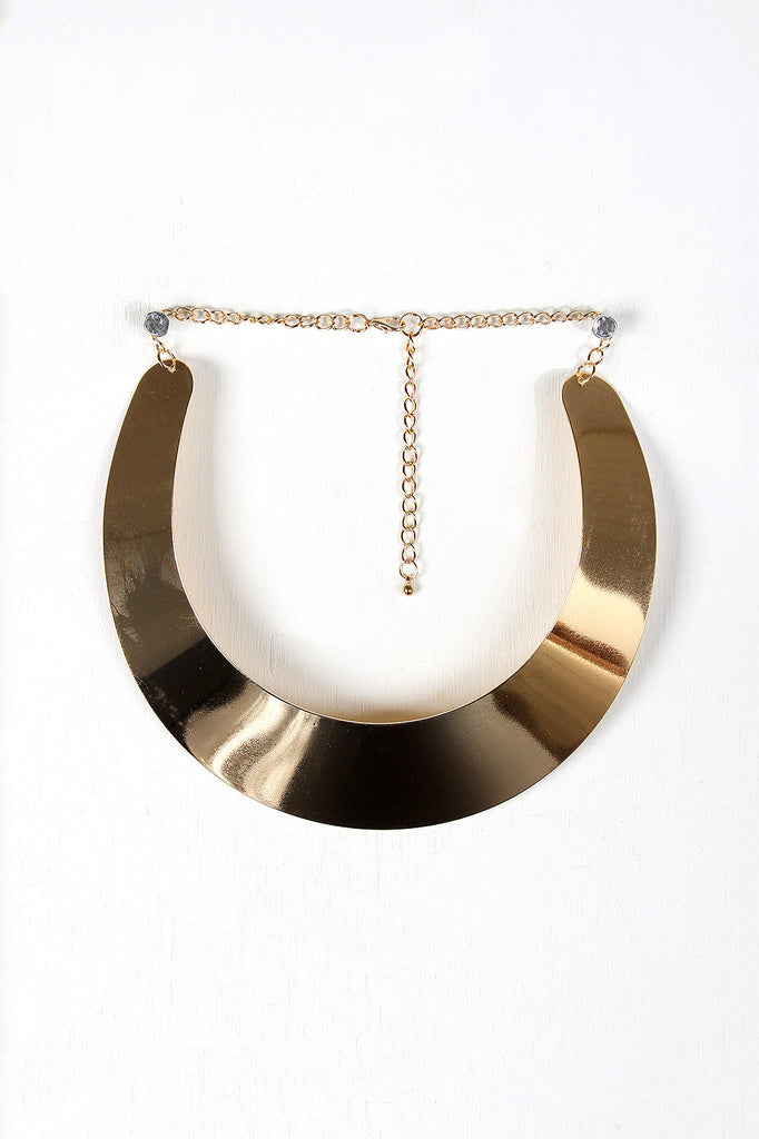 Polished Metal Cuff Choker