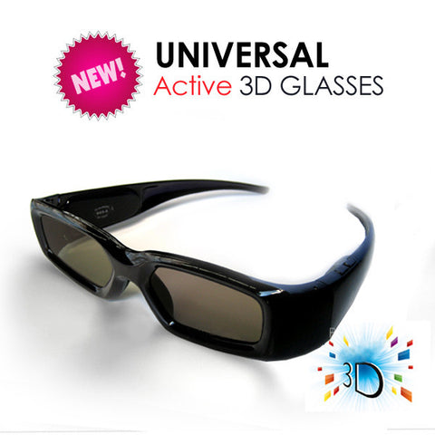 3D Active Glasses (Universal) for All Competitive 3D TV with IR Technology