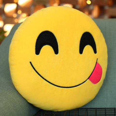 Fun Creative Emoji Cushions Throw Pillow Back Pillow