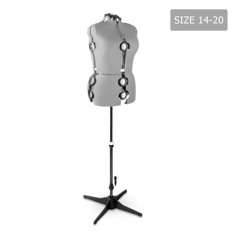 Adjustable Dressmaking Mannequin SZ14-20 - Grey