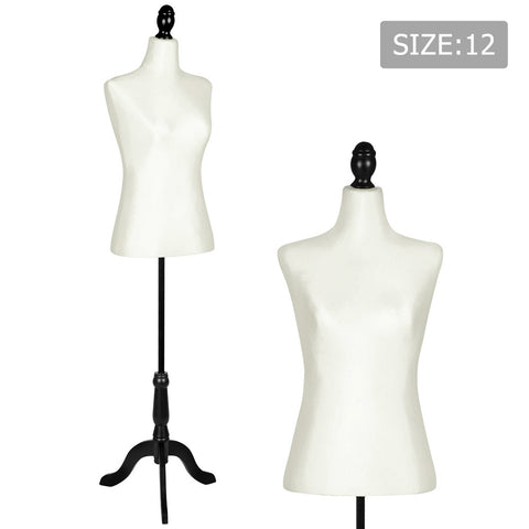 Female Mannequin Cloth Display Tailor Dressmaker Black