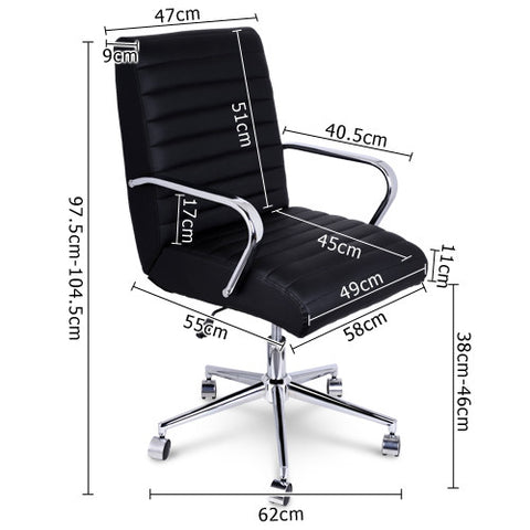 Executive PU Leather Office Computer Chair Black