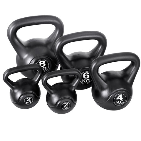 Set of 5 Kettle Bells Fitness Exercise Kit