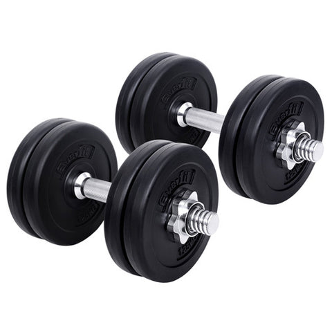 15kg Fitness Gym Exercise Dumbbell Set