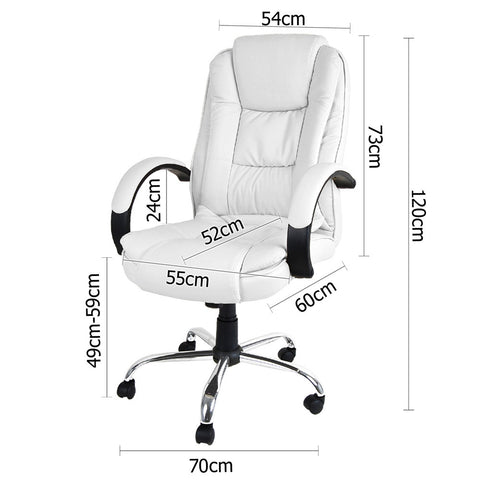 Executive PU Leather Office Computer Chair White