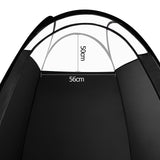 Large Black Pop Up Spray Tan Tent Tanning Mobile Booth