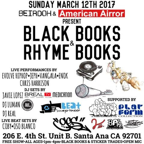 Blackbooks and Rhymebooks at GCS during Beat Swapmeet