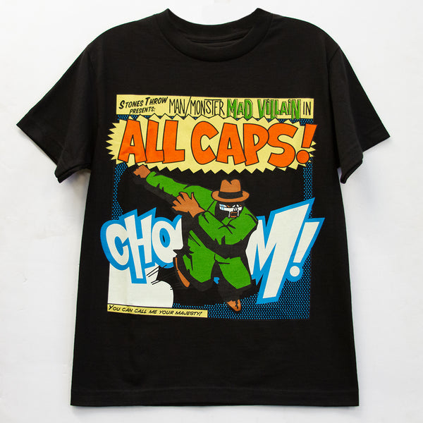 All Caps Tee (black) - GCS Clothing