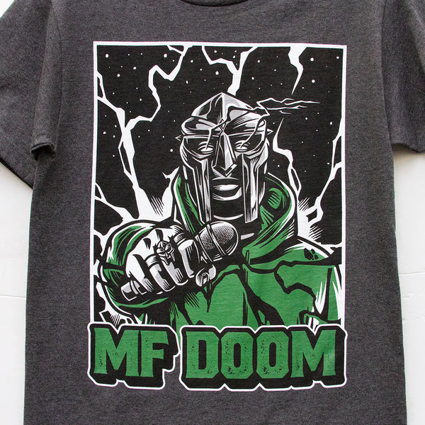 MF DOOM tee (dark grey) - GCS Clothing