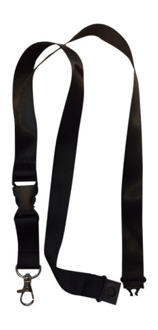 1 CLP Black anti choke Lanyard perfect for ID Badge Holders Features Strangle Proof Release Buckle