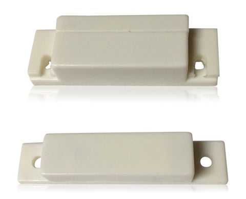 "1 pcs NO White Door Contacts (NORMALLY OPEN) Surface Mount Security Alarm Door Window Sensors.These ¾"" Door Contact Position switches (DCS) Work with All Access Control and Burglar Alarm Systems"