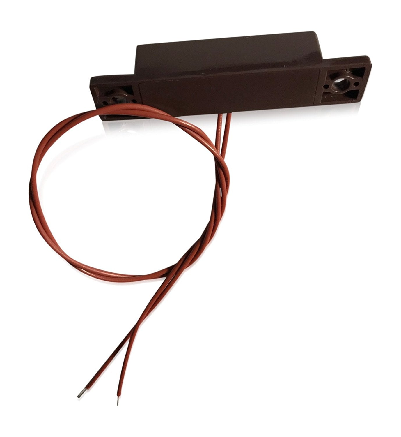 "1 pcs Brown Wired Door Contacts Surface Mount NC Security Alarm Door Window Sensors.These ¾"" Door Contact Position switches (DCS) Work with All Access Control and Burglar Alarm Systems"