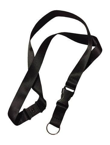 1 Black anti choke Lanyard perfect for ID Badge Holders Features Strangle Proof Release Buckle