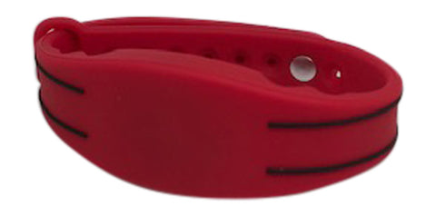 50 Red Adjustable 26 Bit Proximity Wristbands