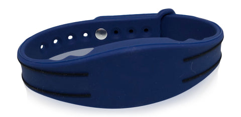 10 Dark Blue Adjustable 26 Bit Proximity Wristbands