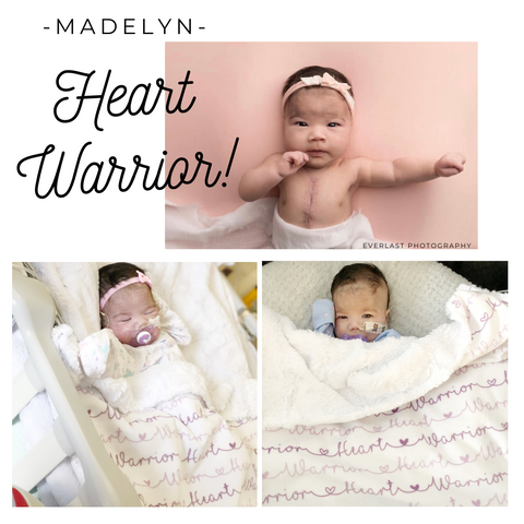 CHD Heart Warrior Baby Blanket