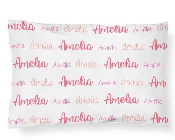 Personalized Name Pillowcase - MULTI FONT REPEAT