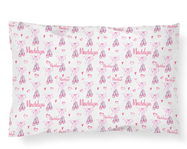Personalized Name Pillowcase - BALLET SLIPPERS - Dotboxed