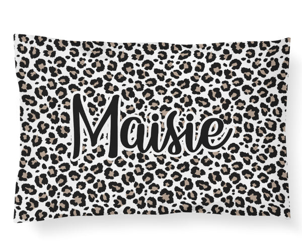 Personalized Name Pillowcase - Leopard - Dotboxed