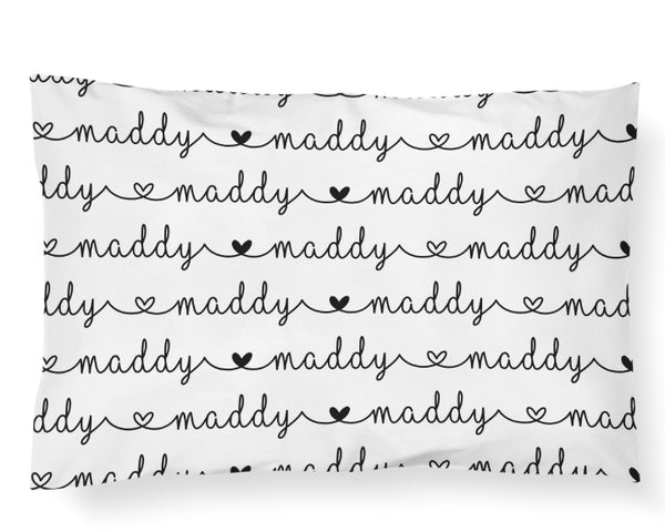 """MADDY"" Pillowcase - Hearts Collection - Dotboxed"