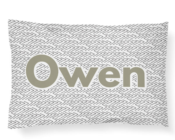 Personalized Name Pillowcase - Tribal Arrows - Dotboxed