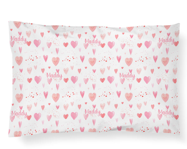 Personalized Name Pillowcase - HEART YOU - Dotboxed