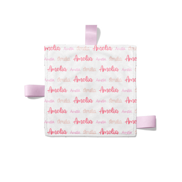 Personalized Name Crinkle Lovey Blanket -MULTI FONT REPEAT