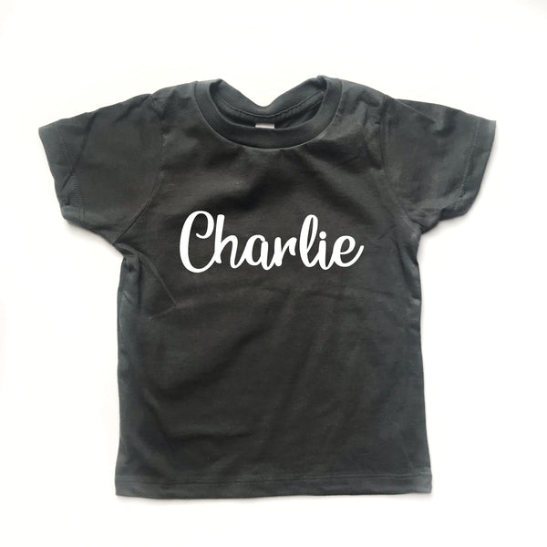 Personalized Name Shirt - DARK GREY - Dotboxed