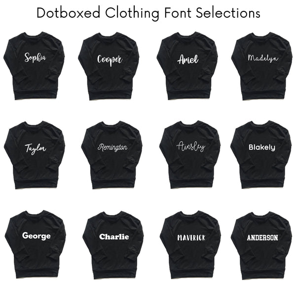 Personalized Name Bodysuit - BLACK - Dotboxed