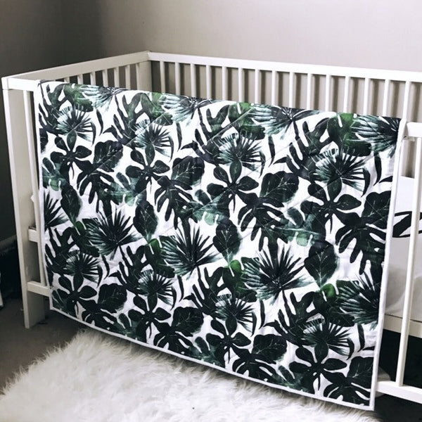 Reversible 2 in 1 Quilt - TROPICAL and MUDCLOTH - Dotboxed