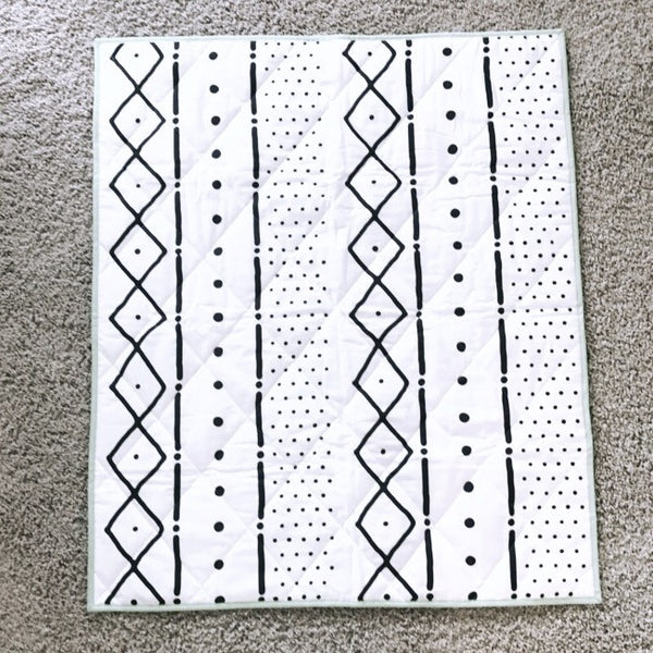 Reversible 2 in 1 Quilt - MARBLE and MUDCLOTH - Dotboxed