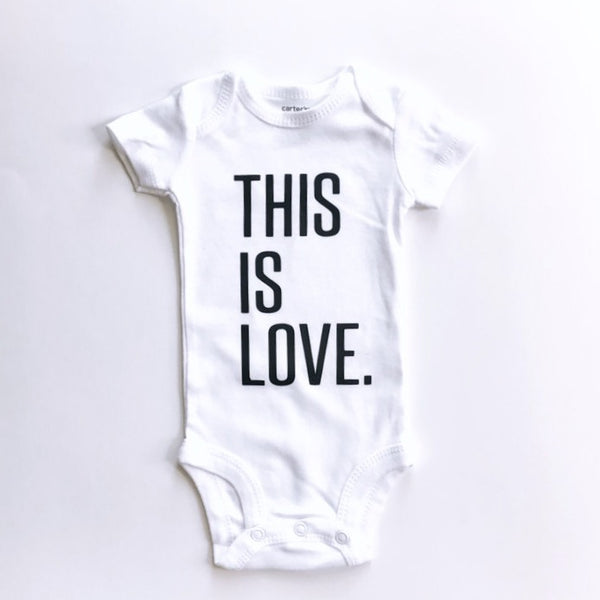 This Is Love (bold font) - BODYSUIT - Dotboxed