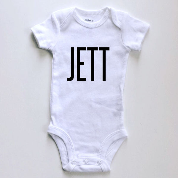 Personalized name (bold font) announcement  - BODYSUIT - Dotboxed