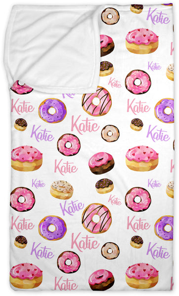 Personalized Name Lounge Bag - PINK DONUTS