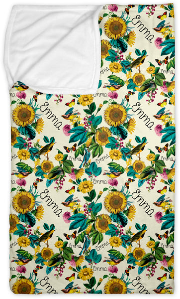 Personalized Name Lounge Bag - SUNFLOWER - Dotboxed