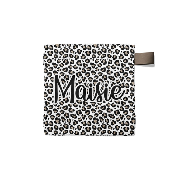 Personalized Name Lovey Blanket -  Leopard - Dotboxed