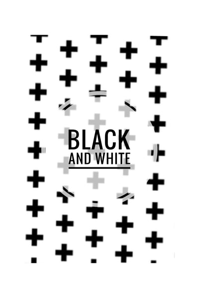 Black and White Prints 1 - CUSTOM CRIB SHEET / CHANGE PAD COVER - Dotboxed