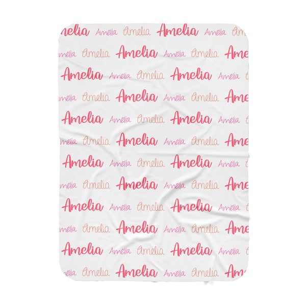 Personalized Name Swaddle Blanket - MULTI FONT REPEAT