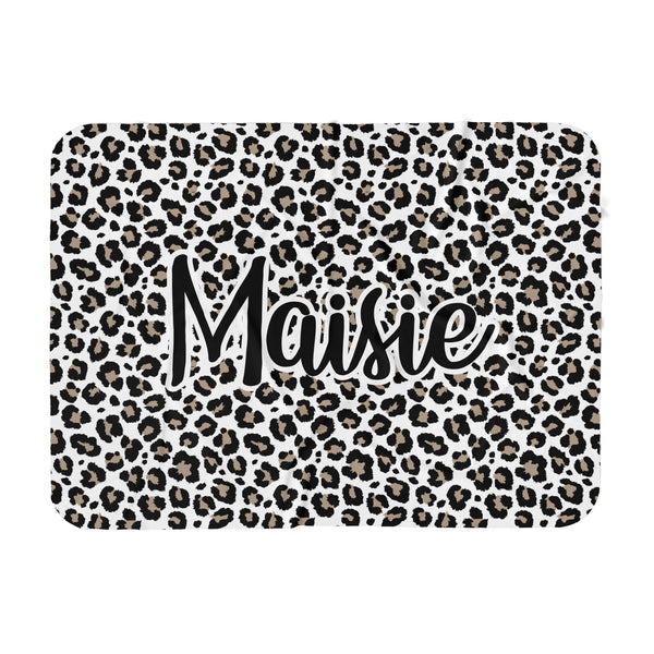 Personalized Name Blanket -  Leopard - Dotboxed