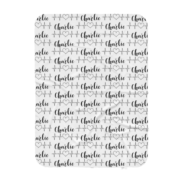 Heartbeat Personalized  Blanket -Hearts Collection - Dotboxed