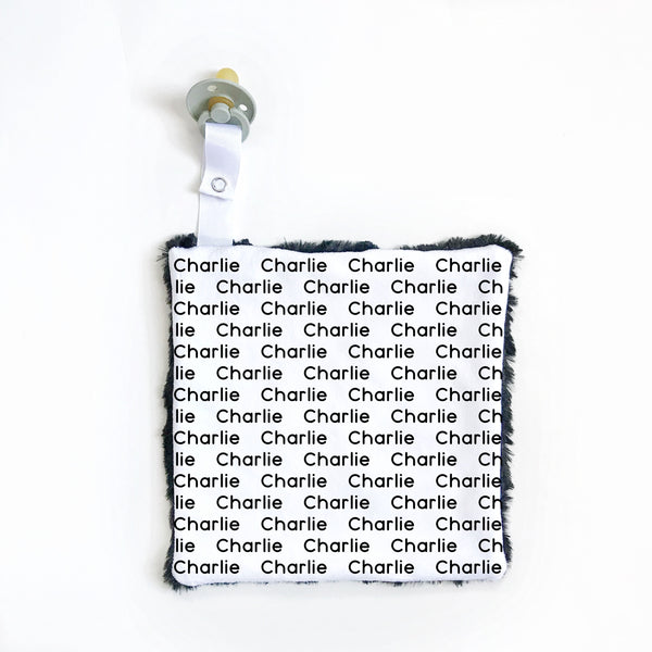 Personalized Name Attached Lovey Blanket - NAME REPEAT - Dotboxed