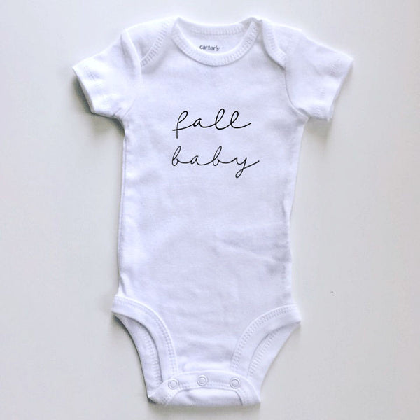 spring / summer / fall / winter  baby seasons announcement (script font)- BODYSUIT - Dotboxed